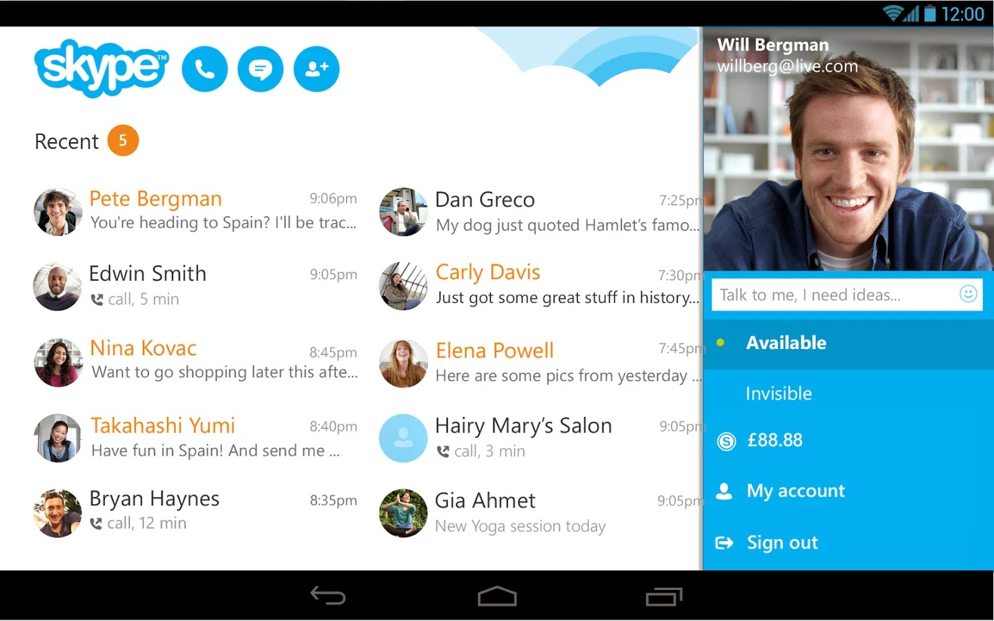 the impact of skype The impact on you at home: skype's new call scheduling is not the same as the  recent addition to outlook for android and ios that allows you.